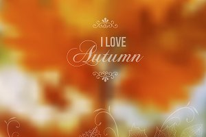 I love autumn vector illustration