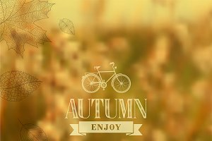 Enjoy autumn vector illustration