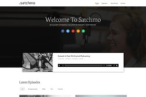 Satchmo Podcast WordPress Theme