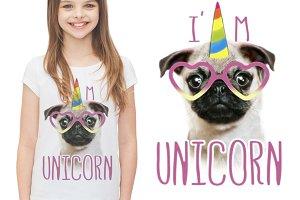 Pug Print / Cute Dog / Funny Pug