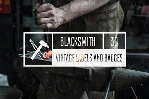 Vintage Blacksmith Labels & Badges