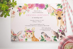 Baby Animal invitation