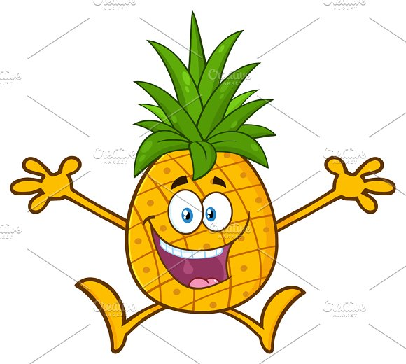 Pineapple Fruit With Open Arms