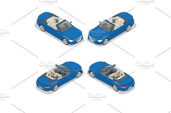 Isometric Cabriolet Car