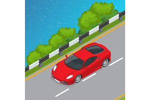 Sport Car isometric