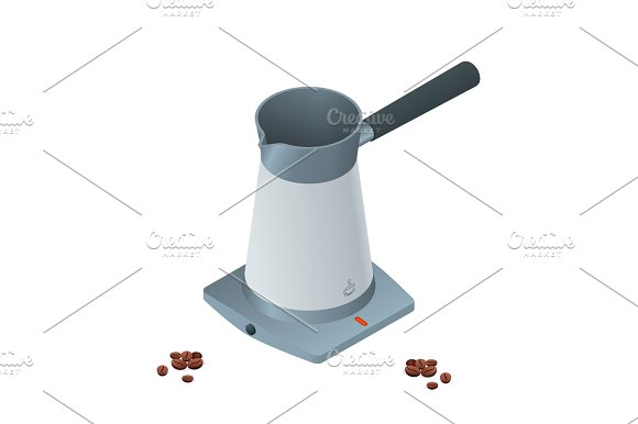 Isometric Coffee Machine