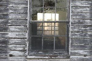 Window of old house, portrait
