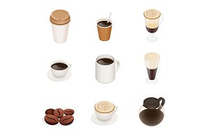 Isometric Coffee types