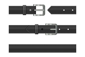 Seamless Leather Belts Set