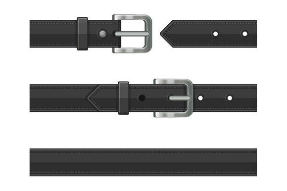 Seamless Leather Belts Set