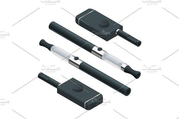 Isometric Big Electronic Cigarette