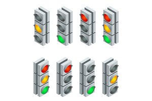 Isometric Traffic signa