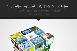 Cube Box Mockup