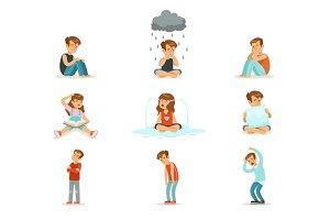 Children negative emotions, expression of different moods