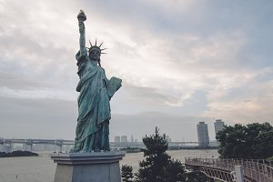 Statue of Liberty on the island of O
