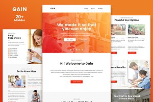Gain Email Template + Builder