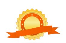 Vector illustration of Golden badge