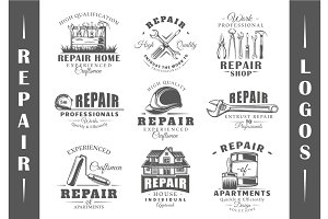 9 Repair Logos Templates Vol.1