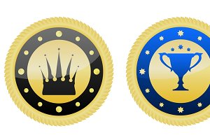 Two Golden Badges.