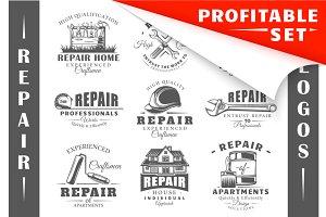 18 Repair Logos Templates