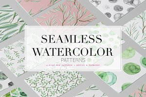 Fresh Seamless Watercolor Patterns!