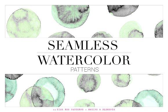 Fresh Seamless Watercolor Patterns