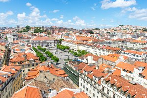 Panoramic view of Lisbon