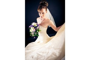 Beautiful Bride in Studio