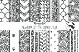 Seamless Glitter Patterns #1 Slvr