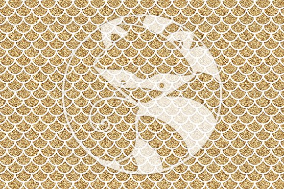 Seamless Glitter Patterns #2 Gold in Patterns - product preview 1