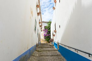 Street of Obidos, Portugal