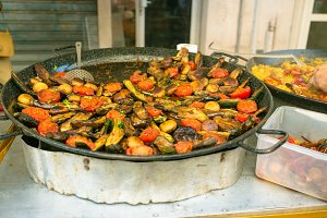 Fresh Grilled Veggies At A Market In Southern France