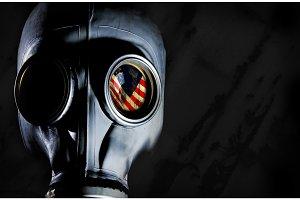 Gas Mask - Usa Flag