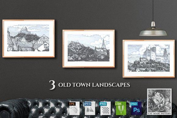 3 Old Town Landscapes