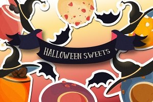 Halloween sweets sticker set