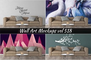 Wall Mockup - Sticker Mockup Vol 518