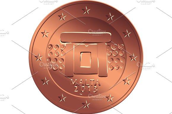 Vector Money Bronze Coin Five Euro Cent