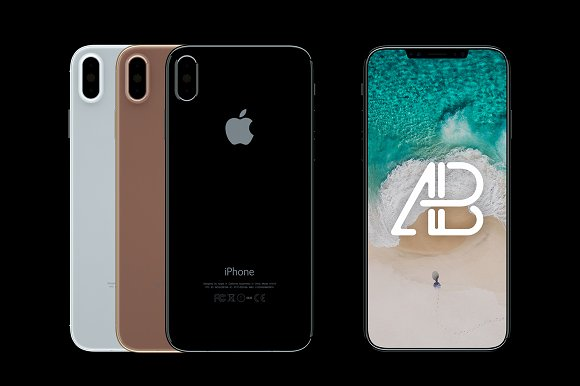Free iPhone X Front & Back View Mockup