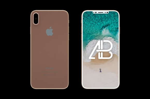 IPhone X Front Back View Mockup Product Mockups Creative Market