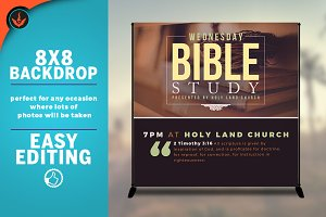 Bible Study 8x8 Backdrop