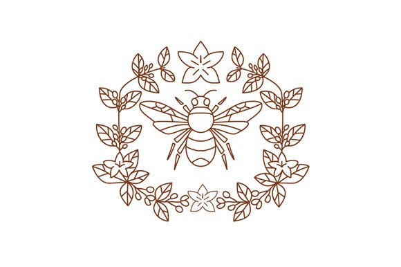 Bumblebee Coffee Flower Leaves Icon