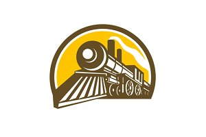 Steam Locomotive Train Icon