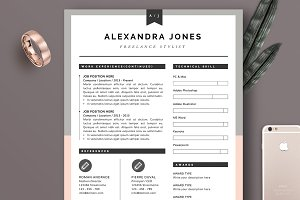 Resume Template 3Page | Pink Grey