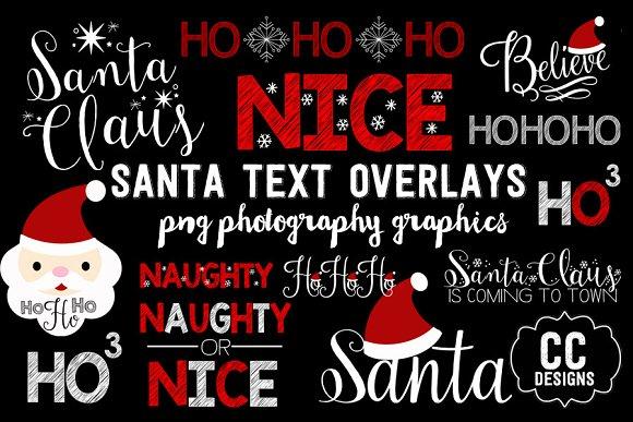 Christmas Santa Text Word Graphics
