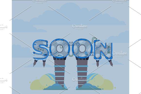 Coming Soon Vector Illustration