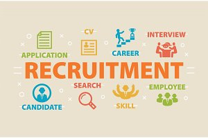 RECRUITMENT Concept with icons