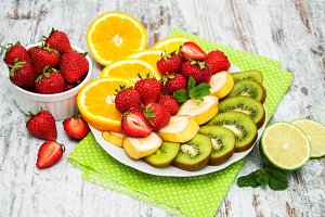 Strawberries and fruits