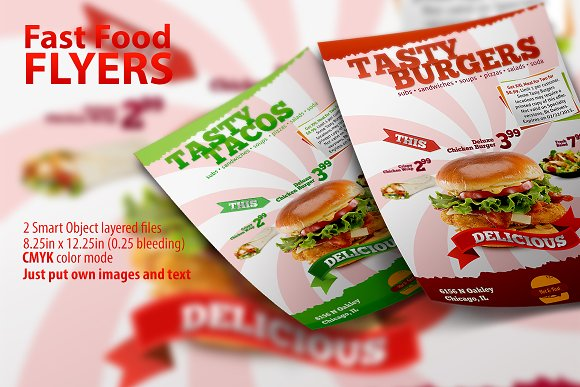 food brochure templates - fast food flyer template flyer templates creative market
