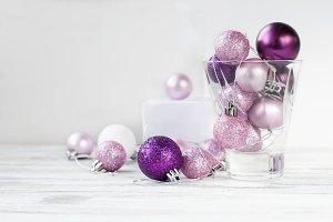 Christmas pink balls