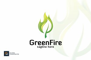 Green Fire - Logo Template